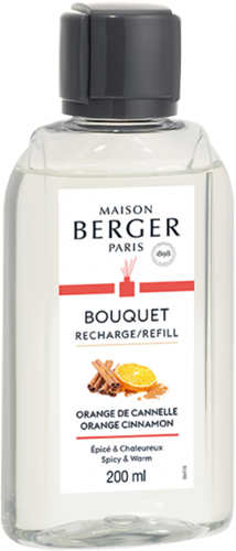 LAMPE BERGER Navulling geurstokjes Recharge  200ml Orange de Cannelle