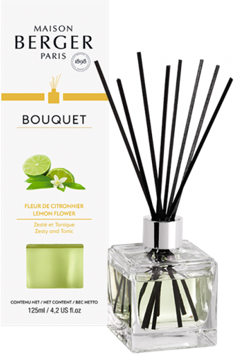 LAMPE BERGER Geurstokjes Bouquet Parfumé Cube Fleur de Citronnier