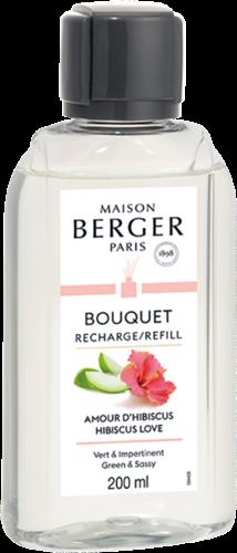 LAMPE BERGER Navulling geurstokjes Recharge 200ml Amour d'Hibiscus
