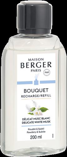 LAMPE BERGER Navulling geurstokjes Recharge 200ml Délicat Musc Blanc