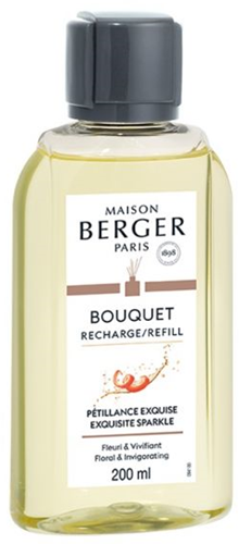 LAMPE BERGER Navulling geurstokjes Recharge 200ml Pétillance Exquise