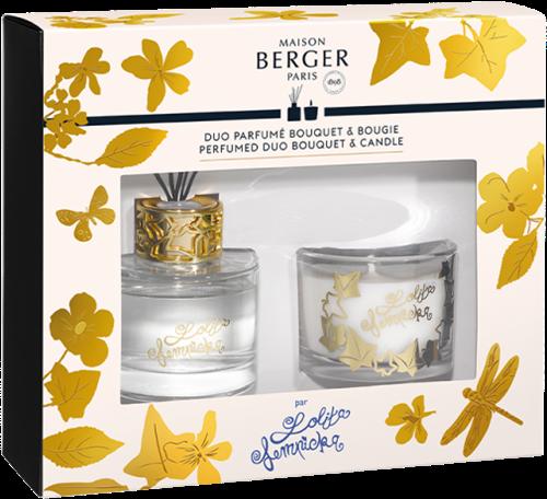 LAMPE BERGER Lolita Lempicka DUO BOUQUET 80ML+BOUGIE 80GR TRANSP