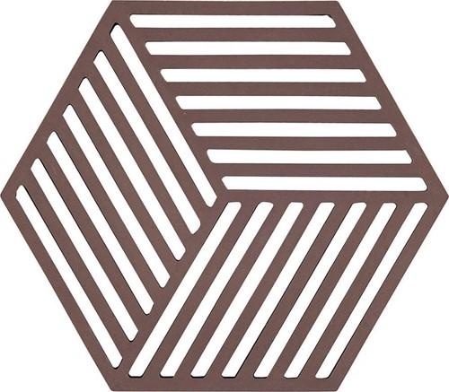 ZONE DENMAKR Trivet Chocolate Hexagon