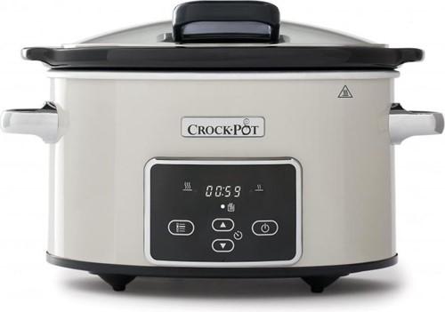 CROCKPOT Slow Cooker beigewit 3,5L Klapdeksel Digital