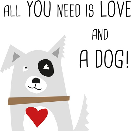 PPD Love and Dog 33x33 cm