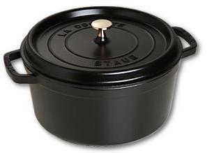 STAUB Cocotte , rond 28 cm - zwart