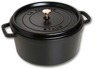 STAUB Cocotte , rond 30 cm - zwart
