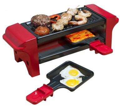 BESTRON AGR102 Mini grill 2 Pannetjes 350W Rood