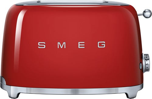 SMEG TSF01RDEU Broodrooster - 2 sleuven 2 sneden - rood