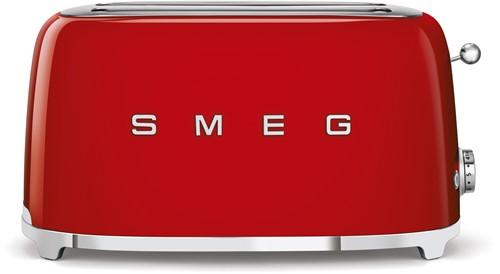SMEG TSF02RDEU Broodrooster - 2 sleuven 4 sneden - rood