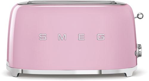 SMEG TSF02PKEU Broodrooster - 2 sleuven 4 sneden - roze