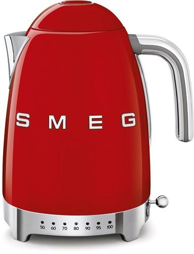 SMEG KLF04RDEU Waterkoker - regelbare temperatuur - volume 1,7 liter - rood