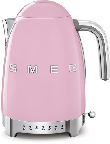 SMEG KLF04PKEU Waterkoker - regelbare temperatuur - volume 1,7 liter - roze
