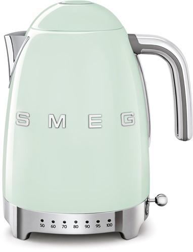 SMEG KLF04PGEU Waterkoker - regelbare temperatuur - volume 1,7 liter - watergroen