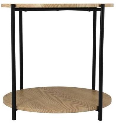 DAY 731177 Bijzettafel met dubbel houten blad D:55cm H:40cm