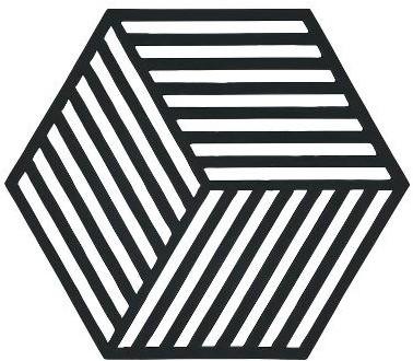 ZONE DENMAKR Trivet Black Hexagon