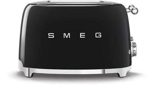 SMEG TSF03BLEU  Broodrooster - 4 sleuven 4 sneden - zwart