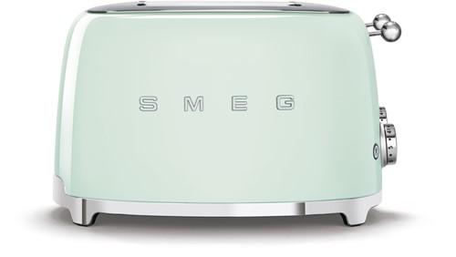 SMEG TSF03PGEU  Broodrooster - 4 sleuven 4 sneden - pastelgroen