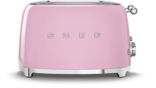 SMEG TSF03PKEU Broodrooster - 4 sleuven 4 sneden - roze