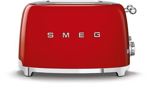 SMEG TSF03RDEU  Broodrooster - 4 sleuven 4 sneden - rood