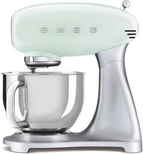 SMEG SMF02PGEU Keukenmachine - inox mengkom volume 4,8 liter - pastelgroen met zilver