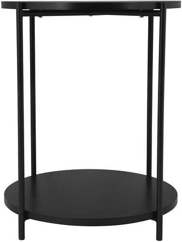 DAY 731190 Bijzettafel met dubbel blad D:40 cm H:50cm zwart
