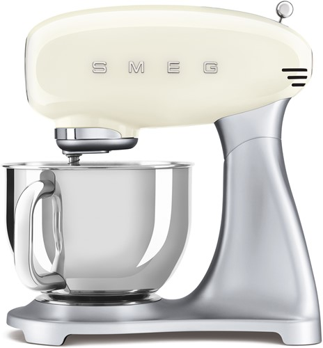 SMEG SMF02CREU  Keukenmachine - inox mengkom volume 4,8 liter - crème met zilver