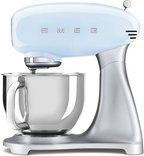 SMEG SMF02PBEU Keukenmachine - inox mengkom volume 4,8 liter - pastelblauw met zilver