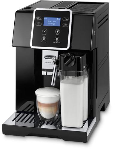 DELONGHI Volautomatische Espresso Perfecta EVO black, Soft touch icons, LCD display, 4 direct recipes, coffee Pot recipe, MY function, LatteCrema System, black