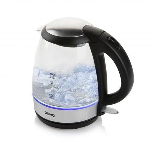 DOMO DO9218WK Waterkoker glas/rvs - 1.2L