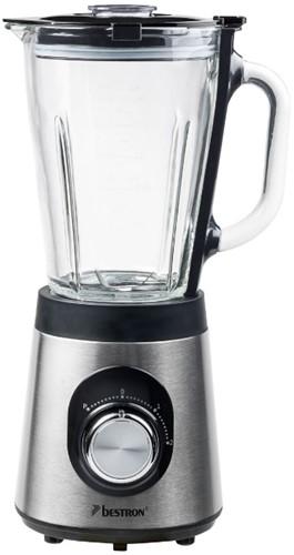 BESTRON ABL500S Blender Glaskan 1,5L Rvs/Zwart