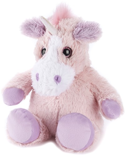WARMIES 703003 Roze Unicorn magnetronknuffel