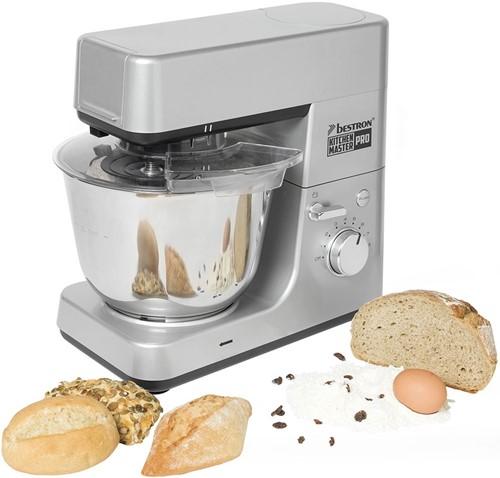 BESTRON AKM1600S Keukenmachine Kitchen Master Pro 4in1 Zilver