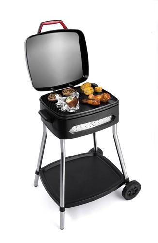 FRITEL BBQ 3278 Barbecue met deksel en wielen