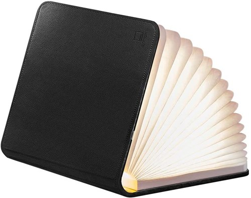GINGKO BOOKLIGHT LEATHER Large Black Leather
