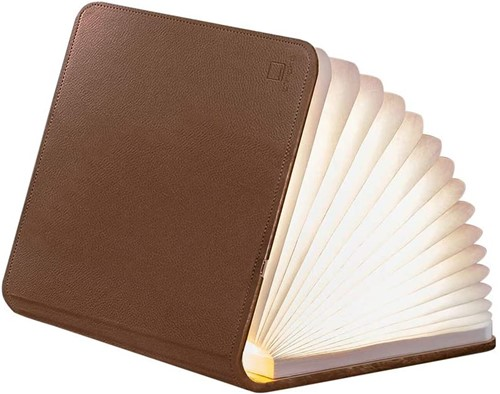 GINGKO BOOKLIGHT LEATHER Large Brown Leather