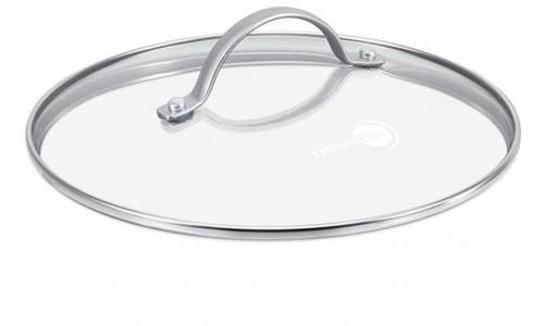 Greenpan Accessoires Glazen deksel 32cm m/ SS handvat
