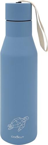 COOKUT CK-2020 dubbelwandige isoleerfles uit rvs lichtblauw schildpad 500ml