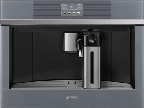 SMEG CMS4104S Automatische koffiemachine - COMPACT 45 CM - zilverkleurig glas