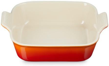 Le Creuset Farm Fresh Vierkante Ovenschaal Oranjerood