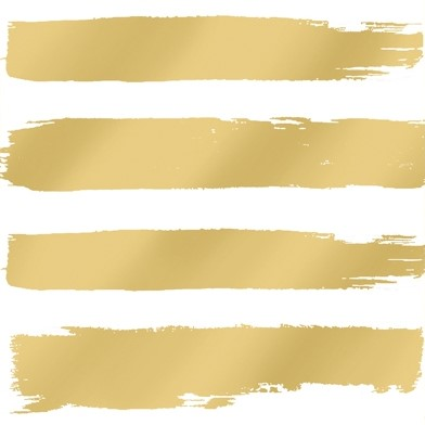 PPD Serviet 25x25 Fashion Stripes gold