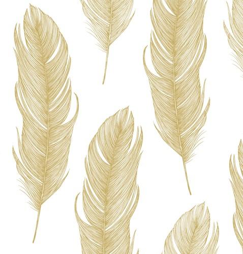 PPD 1332124 Serviet 33x33 Elegant Feather gold