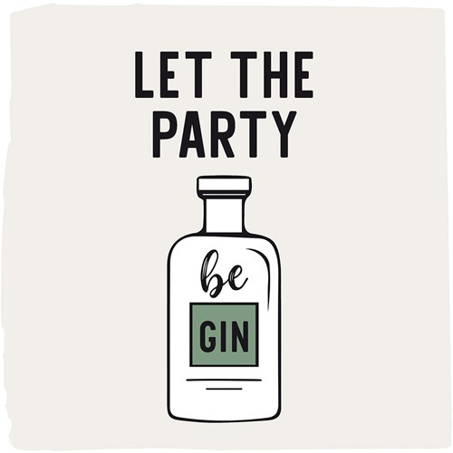 PPD Let the Party be Gin Napkin 25x25
