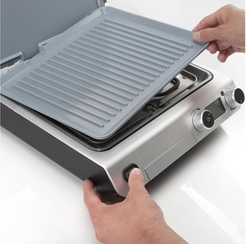 ESPRESSIONS Losse ribbel grill plaat voor Espressions Smart grill EP8700