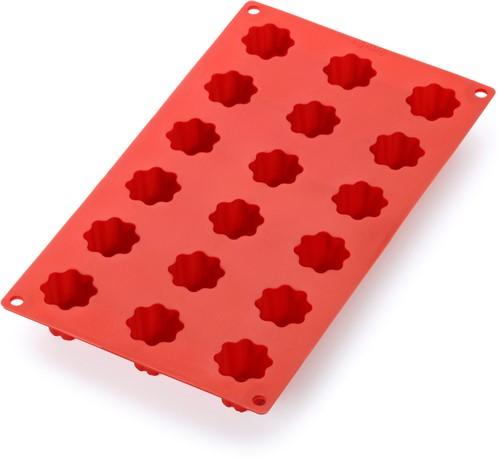 LEKUE LK-0621118R01 bakvorm uit silicone voor 18 mini cannelés bordelais rood Ø 3.2cm H 2.8cm