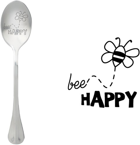 ONE MESSAGE SPOON Bee Happy