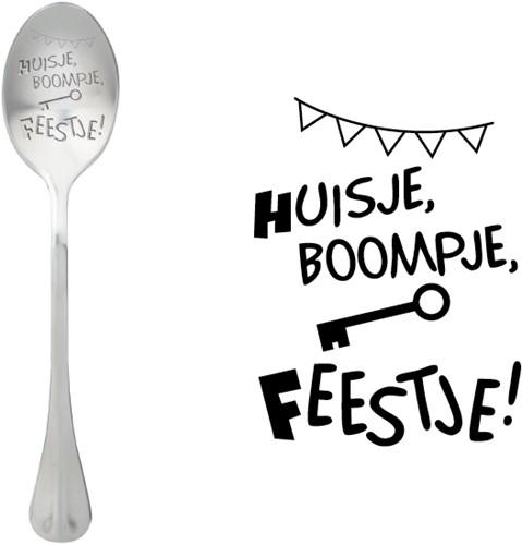 ONE MESSAGE SPOON Huisje Boompje Feestje