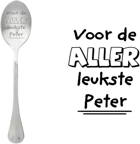 ONE MESSAGE SPOON Voor de allerleukste Peter