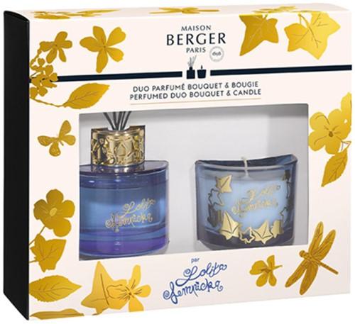LAMPE BERGER Lolita Lempicka DUO BOUQUET 80ML+BOUGIE 80GR PARME