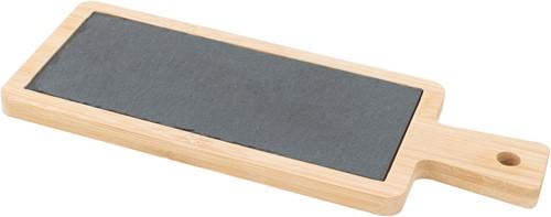 POINT VIRGULE PVBAM1160 Serveerplank uit Bamboe en leisteen met handvat 23x9x1cm